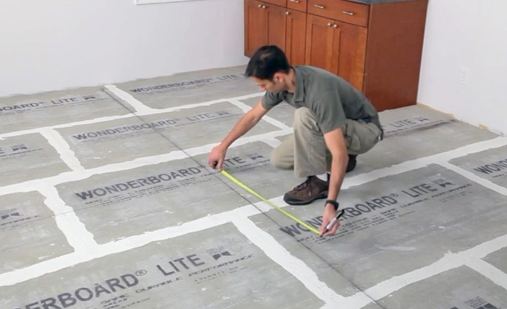 measuring before laying parquet